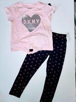 NWT DKNY 2pc set GIRL size 24M oatmeal hth