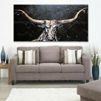 ZOPT04  100% Hand-painted Animal Bull Abstract  Oil Painting Art  on canvas