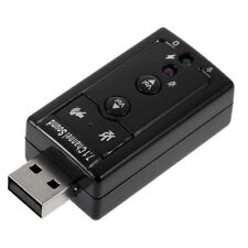 USB 2.0 External 7.1 Channel 3D Virtual Audio Sound Card Mic Adapter PC Laptop