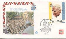 ENVELOPPE VISITE DU PAPE JEAN PAUL II / POSTE VATICANE 1987 POLONIA POLOGNE