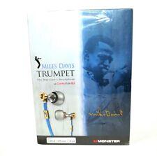 RARE SEALED Monster Miles Davis Tribute Jazz In-Ear Headphones - Blue/Gold New
