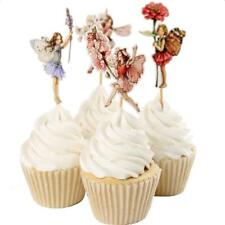 24pcs /Set Flower Fairy Pixie Cupcake Cake Topper Pick Party Cake Decoration