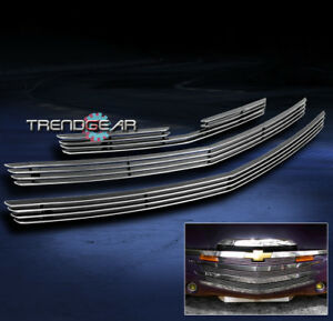 2003-2006 CHEVY SSR FRONT BUMPER BILLET GRILLE GRILL INSERT 2004 2005 3PCS COMBO