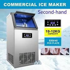 Second Hand 110lbs Commercial Ice Cube Maker Machine Undercounter 5x9 Ice Tray