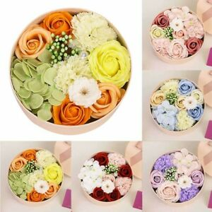 UK Luxury Handmade Soap Flower Bouquet Roses Carnations Gift Box Wedding Home