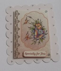 PACK 3 FLORAL BUTTERFLYS TOPPER EMBELLISHMENTS FOR CARDS OR CRAFTS