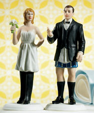 Bride Wearing Pants Funny Couple Wedding Cake Topper