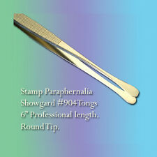 """Showgard Stamp Tongs 6"""" Professional Length, Round Tip (#904)"""