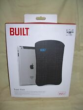 NEW Built Slim Neoprene Sleeve Cover for iPad 2 w/ Smart Hard Shell Back
