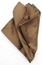 New ITALO FERRETTI Italy Brown Silk Pocket Square Handkerchief MSRP $100!