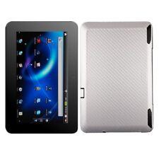Skinomi Carbon Fiber Silver Tablet Skin+Screen Guard for ViewSonic ViewPad 10s