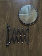 Round Extendable Wall Mirror Telescopic Space Saver Shave Bathroom Ikea Frack