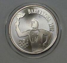 {BJStamps} 1992 Barcelona Olympics MOPAR  Crysler 1 ozt. .999 FINE Silver