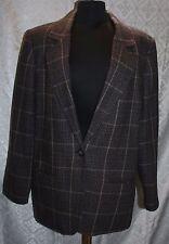 Sag Harbor Blazer Jacket Sport coat Sz 16 Lined Plaid GrayBlack Purple Blazer