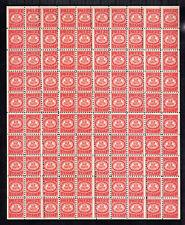 """Warren Bowman Gum Inc- MNH -Sht 100 """"PRIZE"""" Stamps"""". Scarce EFO: Misperf/overink"""