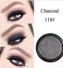 Phoera Metalic Shimmering Eyeshadow Make Up glitter Eye Cosmetic (Charcoal)