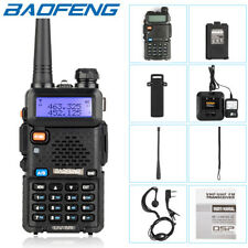 BAOFENG UV-5R Two Way Ham Radio Dual Band 136-174/400-520Mhz 5W Walkie Talkie US