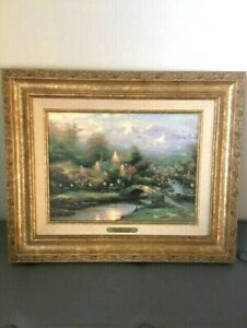 Thomas Kinkade - Lamplight Village Classic Gold Frame