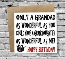 HAPPY BIRTHDAY GRANDAD GREETINGS CARD LOVE FUNNY COMEDY GRAMPS GRANDDAUGHTER