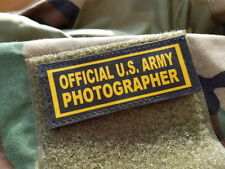 "Snake Patch - SCRATCH - "" OFFICIAL US ARMY PHOTOGRAPHER "" ww2 scratch PHOTO"