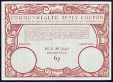IRC COMMONWEALTH REPLY COUPON ISLE OF MAN UK GB UNUSED PS STATIONERY