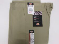 New Dickies Boys Khaki Pants School Uniform Size 16 H Husky Flex Classic Fit