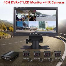 "4CH 720P AHD Video Recorder Box+7"" HD Car Monitor+4Pcs CCD Camera For Truck Bus"