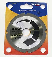"""115 mm (4.1/2"""") Multi Usage Meuleuse d'angle lames de scie pour bois, plastiques, etc."""