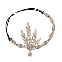 Vintage 1920s Silver Diamante Headpiece Great Gatsby Flapper Bridal Headband