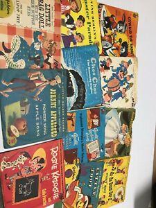 "Childrens Kids x11 LOT Golden 1950s Alice Wonderland J.Appleseed 7"" 45rpm Record"