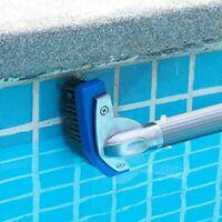 14cm Stainless Steel swimming Pool Brush Aluminum Handle Connector Algae clean
