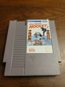 RARE Pro Sport Hockey (NES) Game Only - Tested - Authentic