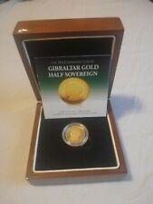 More details for rare solid 22ct gold half sovereign 2012 diamond jubilee gibraltar coa 3.99 gram