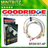 Ford Fiesta MK5 ST150 Rr. Disc 2005 Zinc Plated Goodridge Brake Hoses SFD0107-4P