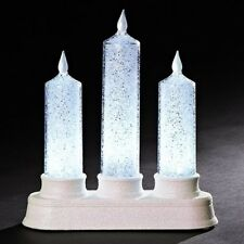 Roman LED Iced Triple Candle (130257)