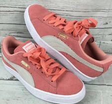 Puma Suede Sneakers Trainers Classic Desert Flower Coral Peach Women Sz 6