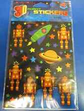 Party Bots Toy 3D Robot Space Boys Kids Birthday Party Favor Scrapbook Stickers