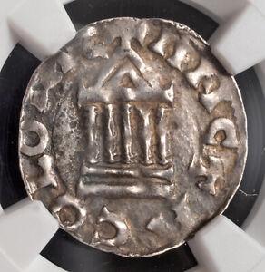 "1027, Cologne, Archbishop Pilgrim ""the Warlike"". Silver Denar Coin. NGC AU-58!"