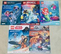 5 *Books Lego Ninjago, Harry Potter, Jurassic World, Star Wars & Disney Princess