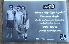 BLINK-182- Whats My Age Again 1999 UK Press ADVERT 12x8 inches