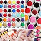 12/36Pcs Solid Pure Glitter Mix Color Gel Acrylic Set UV Builder Nail Art Decor