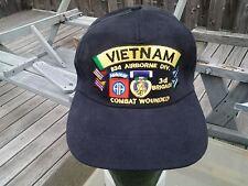 3rd Brigade 82nd Airborne  div. Vietnam Veterans Purple Heart Medal Ball Cap
