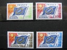 FRANCE neufs  CONSEIL DE L'EUROPE  n° 46 à 49