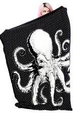 Sourpuss Octopus Punk Goth Nautical Animal Ocean Sea Throw Blanket SPHW126