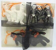 Cute 9 Pc. Variety Halloween Knit Ornaments in Box Nbc Trading Inc. Decorations