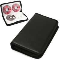 80 Sleeve CD DVD Blu Ray Disc Carry Cases Holder Bag Wallet Storage Ring Binder