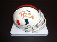 Phillip Dorsett Miami Hurricanes Autographed hand Signed Mini Helmet JSA