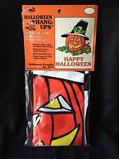"Vintage Hi-Flier GIANT HALLOWEEN Window Pumpkin Decoration 30"" x 40"" unopened"