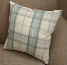 "Laura Ashley Highland Check Pistachio/Duck Egg Cushion Cover Reversible 16"""