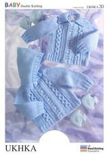 Double Knitting Pattern Jackets Hat Wool 0 to 6 Years Baby 41-66 Cm 16-26 Inch